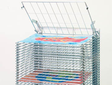Dworschak (mobile) drying racks and drying rack trolleys for school / painting